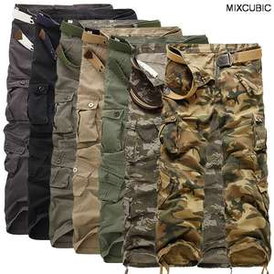 spring Autumn washing Multi-pocket camouflage overalls men cotton military uniform pants men baggy cargo pants men,size 28-40