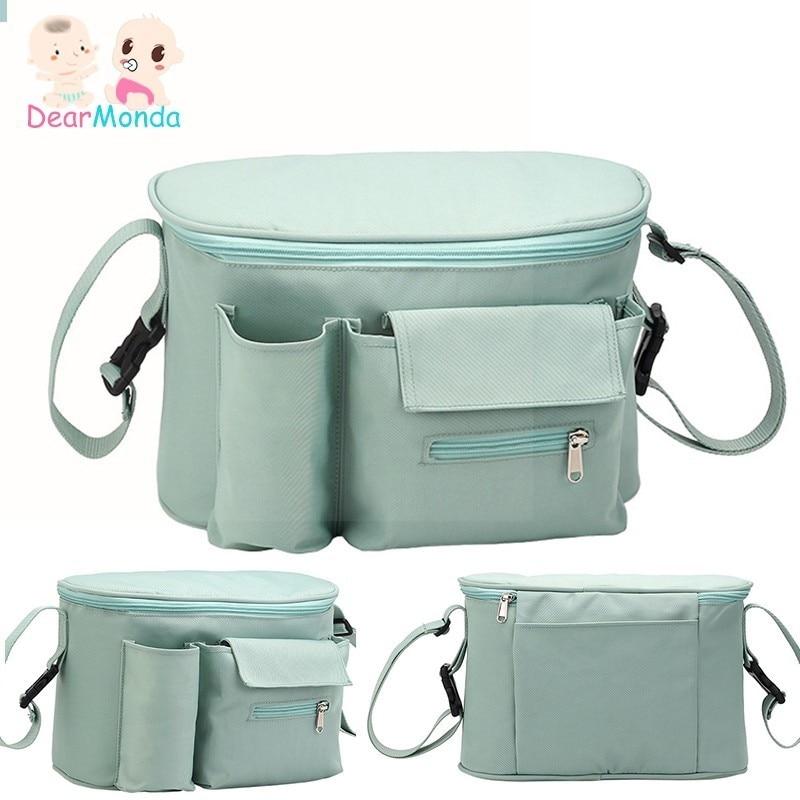 DEARMONDA Diaper Baby Stroller Organizer Hanging Nappy Bag Mummy Maternity Bag Travel Backpack Baby Care Stroller Bottle Bags