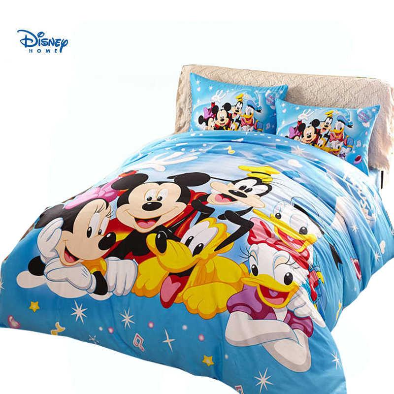 Disney Cartoon Mickey Minnie Mouse Comforter Sets 3d Beddings Twin Full Queen Size Girl Boy Home Decor Polka Dot Be Linen Sheets Aliexpress