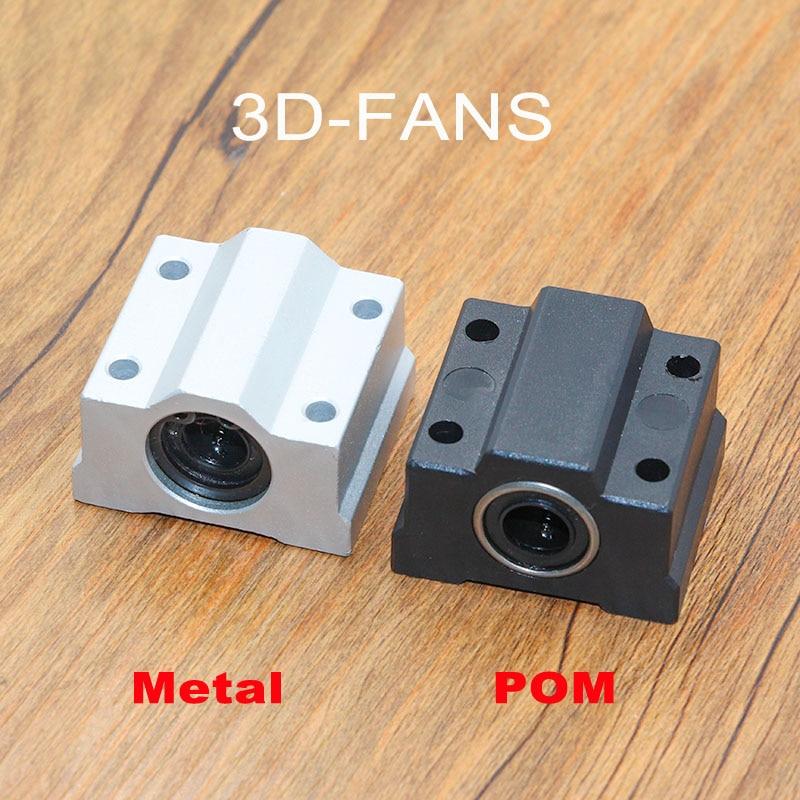 1PC SC8UU SCS8UU Aluminum / POM 8mm Linear Motion Ball Bearing Slide Bushing Linear Shaft For CNC For 3D Printer