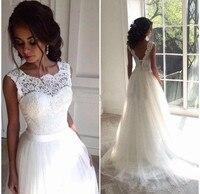2019 gauze dress lace wedding dress TSP bra unbacked beach wedding dress