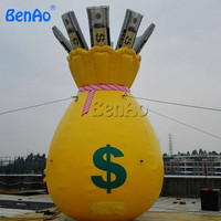 Z783 BenAo Бесплатная доставка гигантские надувные денежный мешок/надувные кошелек надувной мешок денег воздушный шар для парада украшения