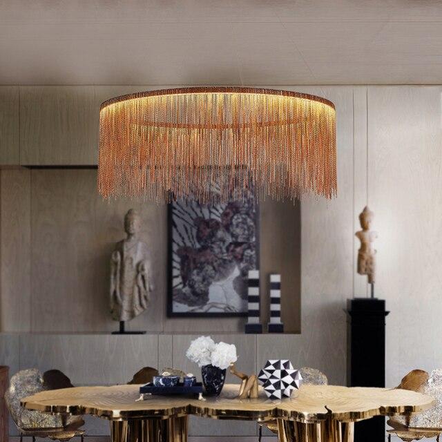 Moderne Kurze Esszimmer Licht Aluminium Kette Led Anhänger Llight Quaste  Suspension Haning Licht