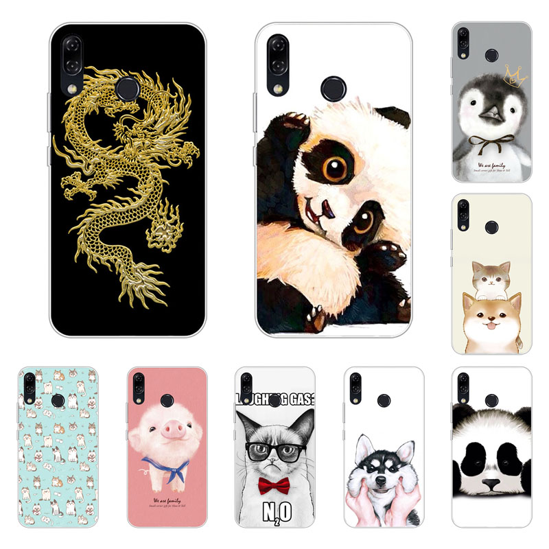 Asus Zenfone 5 ZE620KL Case,Silicon Cute animals Painting Soft TPU Back Cover for Asus Zenfone 5Z ZS620KL Phone bags
