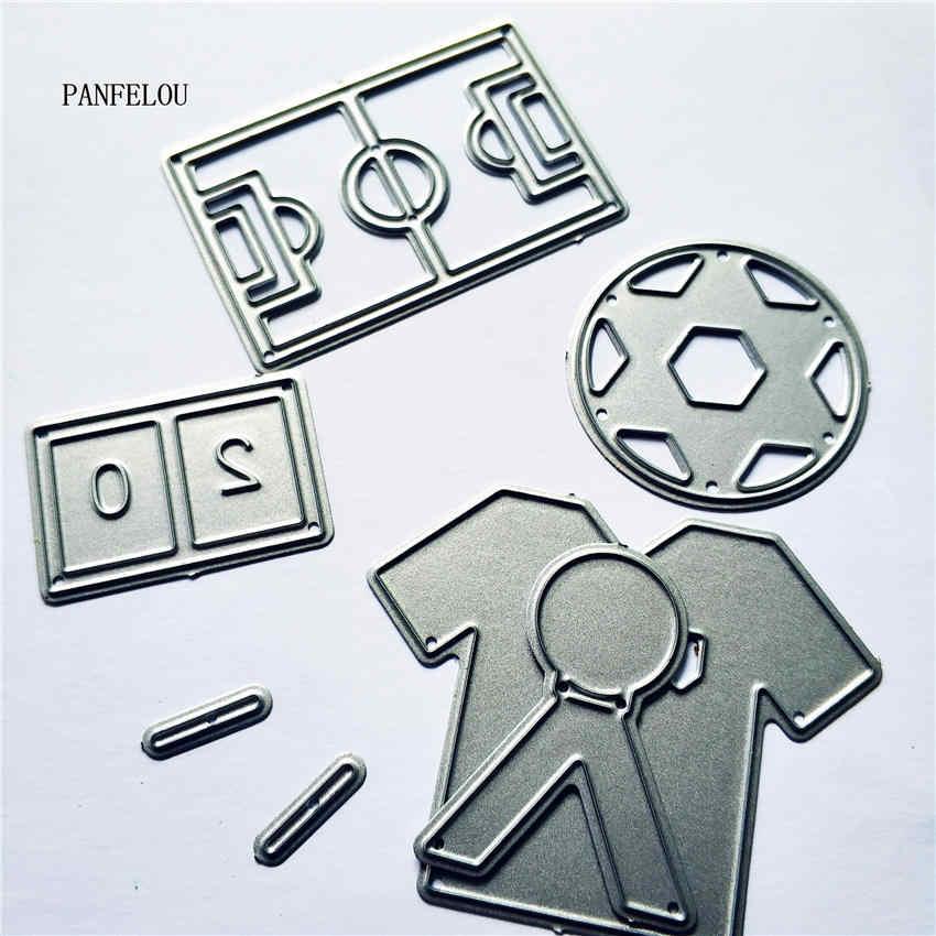 PANFELOU jugador de fútbol metal artesanía papel troquelado Scrapbooking/DIY Pascua boda relieve tarjetas de molde