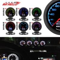 MR 62mm 2.5 7 Color in 1 Racing Gauge GReddi Multi D/A LCD Digital Display Turbo Boost Gauge Car Gauge