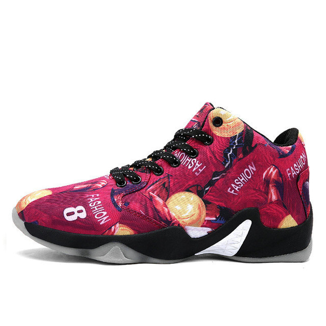 Men Basketball Shoes Air Damping Men Anti-Skid Sports High Top Basketball Sport Sneakers Breathable Men Outdoor Shoes pgm authentic golf shoes men waterproof anti skid high quality male sport sneakers breathable shoes