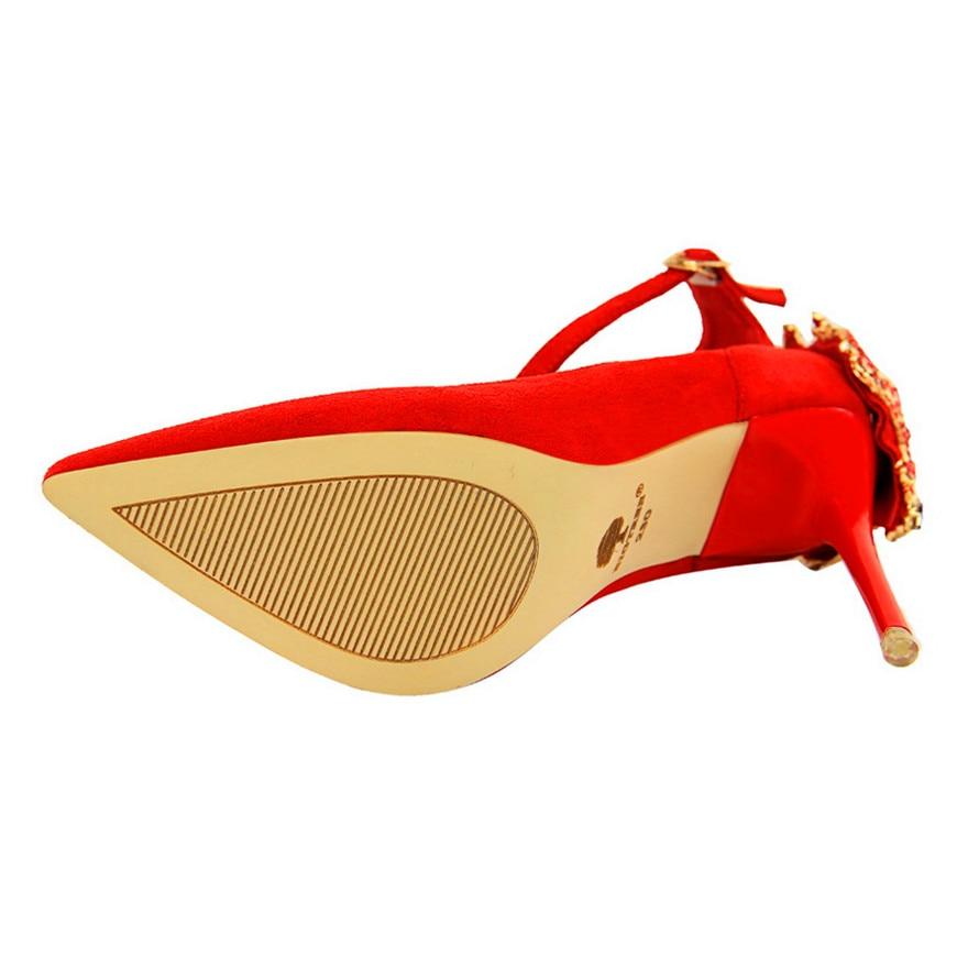Bout Troupeau Talons red Mode khaki Black Solide Bigtree Boucle Haute Cristal Couleurs Élégant Peu Chaussures Mariage 5 Profonde Pointu Pour De Femmes pink green BxvFvnEZwq