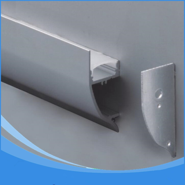 10PCS-1m length of Aluminum LED Profile-Item No.LA-LP43 wall mounting LED Profile suitable for LED strips up to 12mm width 2pcs 1m length aluminum led profile item no la lp37a led stairs profile suitable for led strips up to 12mm width free shipping