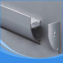 Perfil LED de aluminio de 10 Uds. 1m de longitud artículo N ° LA LP43 perfil LED de montaje en pared apto para tiras LED de hasta 12mm de ancho