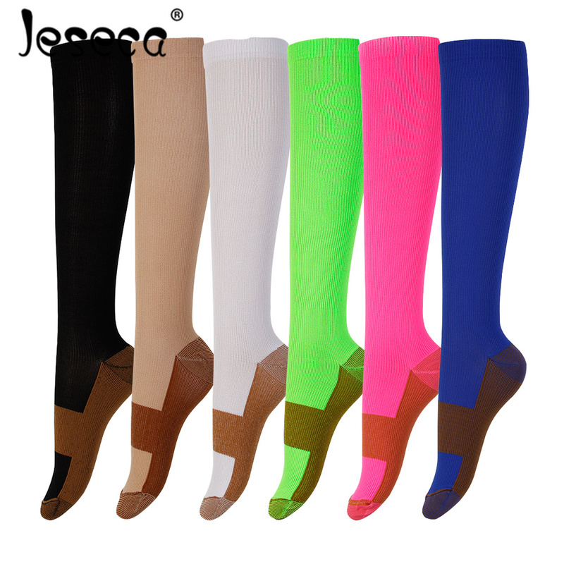 Casual Unisex Copper Compression   Socks   Women Men Anti Fatigue Pain Relief Knee High Stockings Male Female Soft