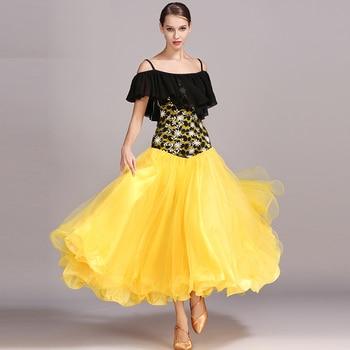Fashion Ballroom Dance Competition Clothes Waltz Performance TUTU Dress Wear Clothing Modern Women Costumes For Dances DWY670