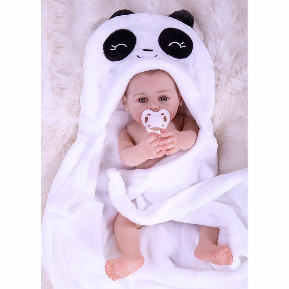 Baby Reborn Doll Alive Toys for Children Cute Girls Toys 16 Inch Washable Soft Silicone Full