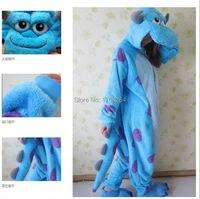 Hot 2014 Sulley Monsters University Adult Cute Pajamas Anime Cosplay Pyjamas Costume Hoodies Adult Onesie Dress
