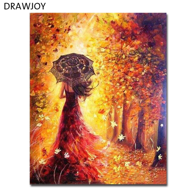Drawjoy Framed Diy Wall Paint Pictures Painting By Numbers Of Beauty