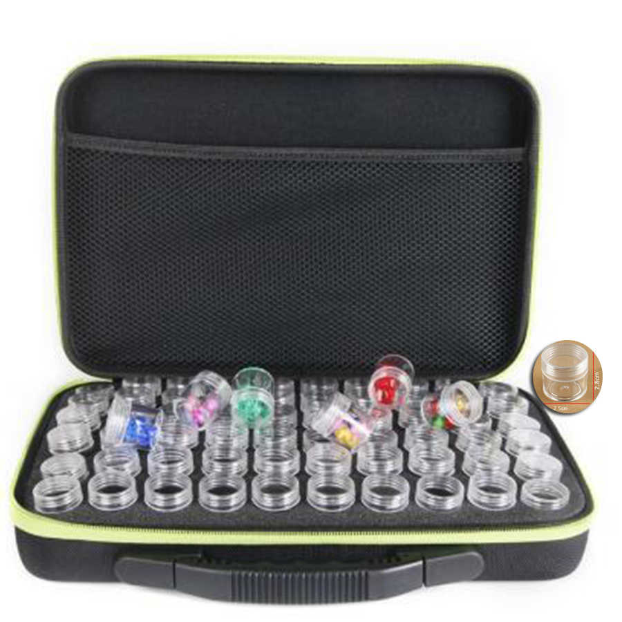 60 Bottles Diamond storage box Diamond embroidery diamond painting tool Drill Storage Carry Case Holder Hand bag Zipper Design