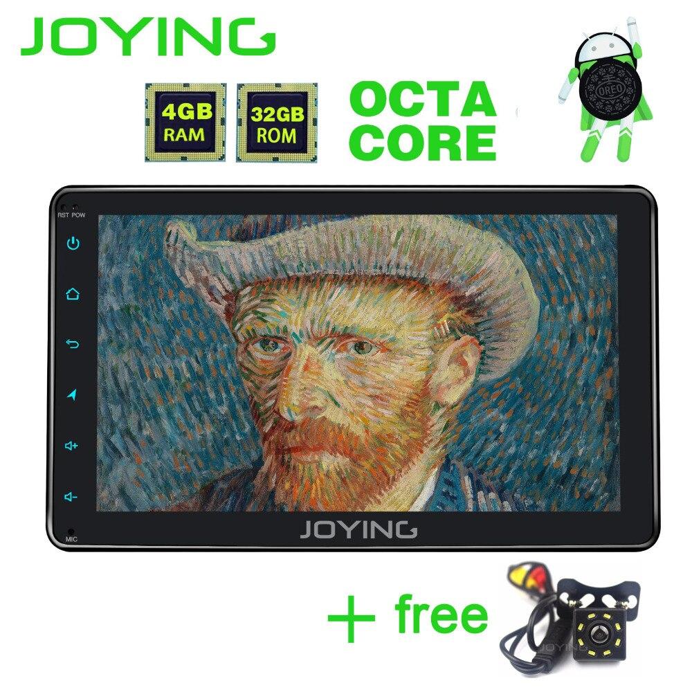 JOYING Offciel radio cassette record 8 Android 8.0 Voiture Radio 1 Din GPS 8 CORE 4 gb RAM Bluetooth sortie vidéo Avec Caméra Arrière Libre