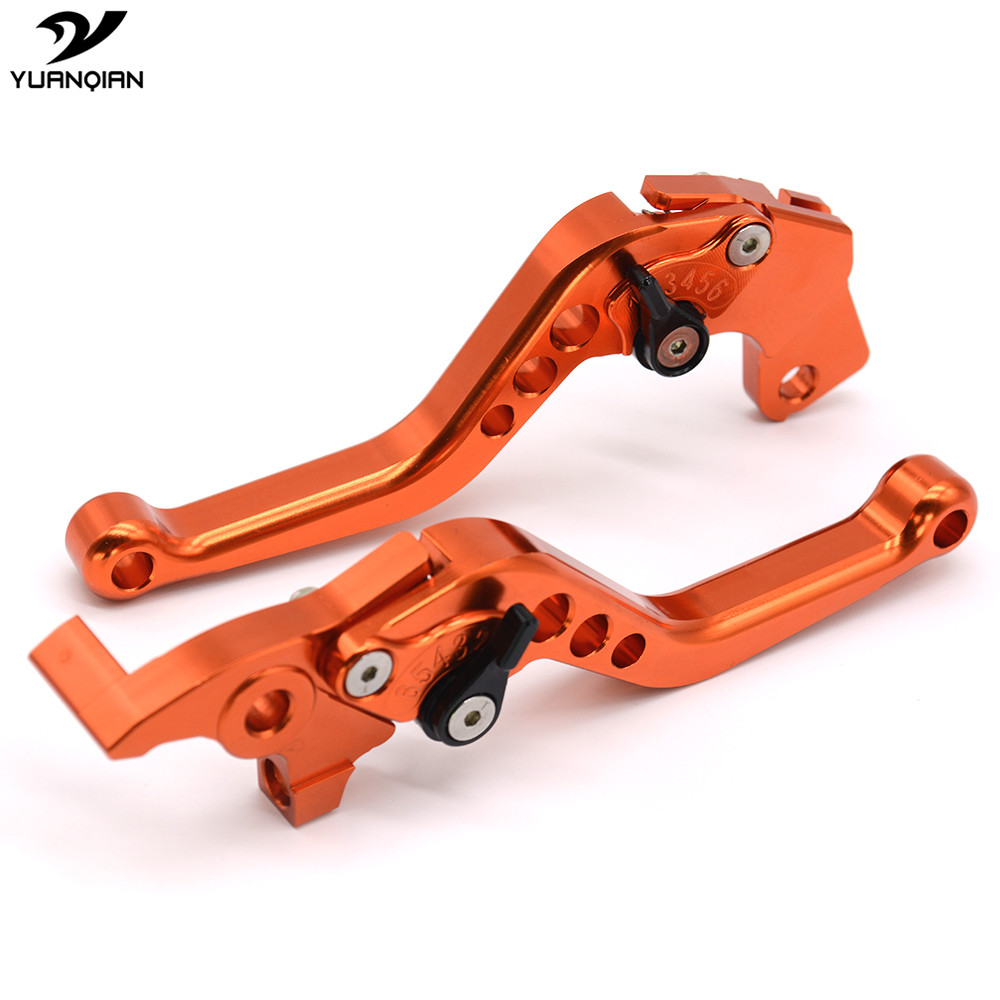 Hight Quality Motorcycle Accessories CNC Motorbike Brake Clutch Levers For KTM Duke 125 200 390 / RC 125 200 390 2014 2015 for ktm logo 125 200 390 690 duke rc 200 390 motorcycle accessories cnc engine oil filter cover cap