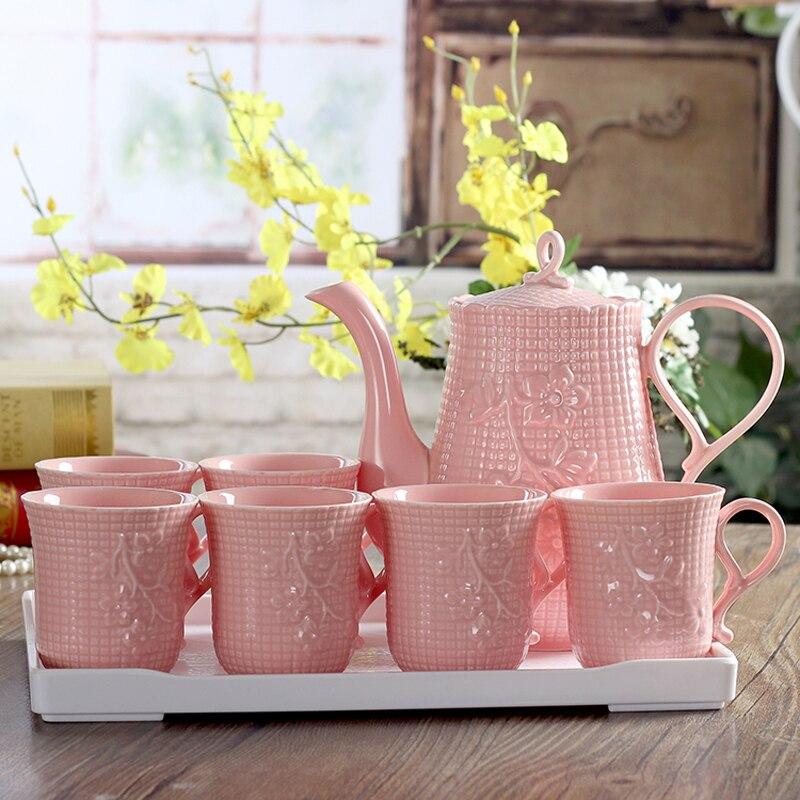 Ensemble de tasses à café Europe tasses à eau chaude froide ensemble de thé en porcelaine britannique