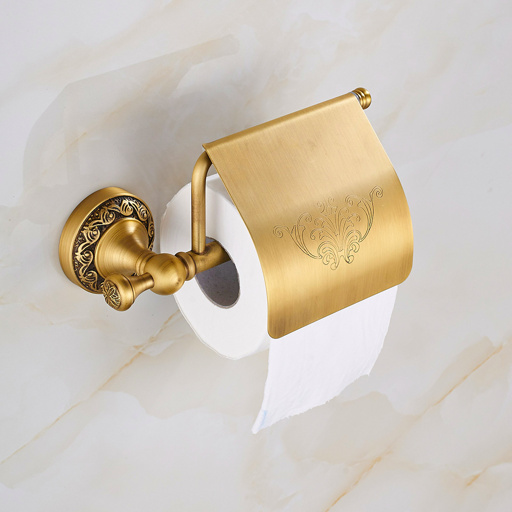 Classical bathroom toilet paper holder solid brass - Solid brass bathroom accessories ...