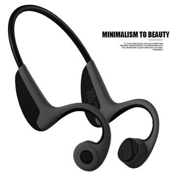 2018 Bluetooth Bone Conduction Earphones Sports Headphones NFC Wireless Headset Outdoor Hands free with Mic For Iphone 4 Running