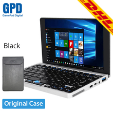 GPD Pocket 7 Inch Game Player Tablet PC Handheld Game Console Aluminum Shell Windows 10 8GB/128GB Mini Notebook with Black Case