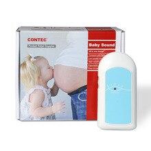 2 Colores BABYSOUND A-Pantalla LCD Prenatal Doppler Fetal, Monitor Babysound Un Latido Del Corazón Del Bebé + Gel Libre, CE FDA, CONTEC