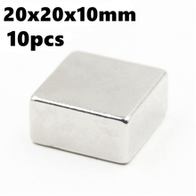 2019 Strong Block Neodymium Magnets N35 Rare Earth Ndfeb 10pcs 20x20x10 Permanent Super Powerful Magnetic Magnet
