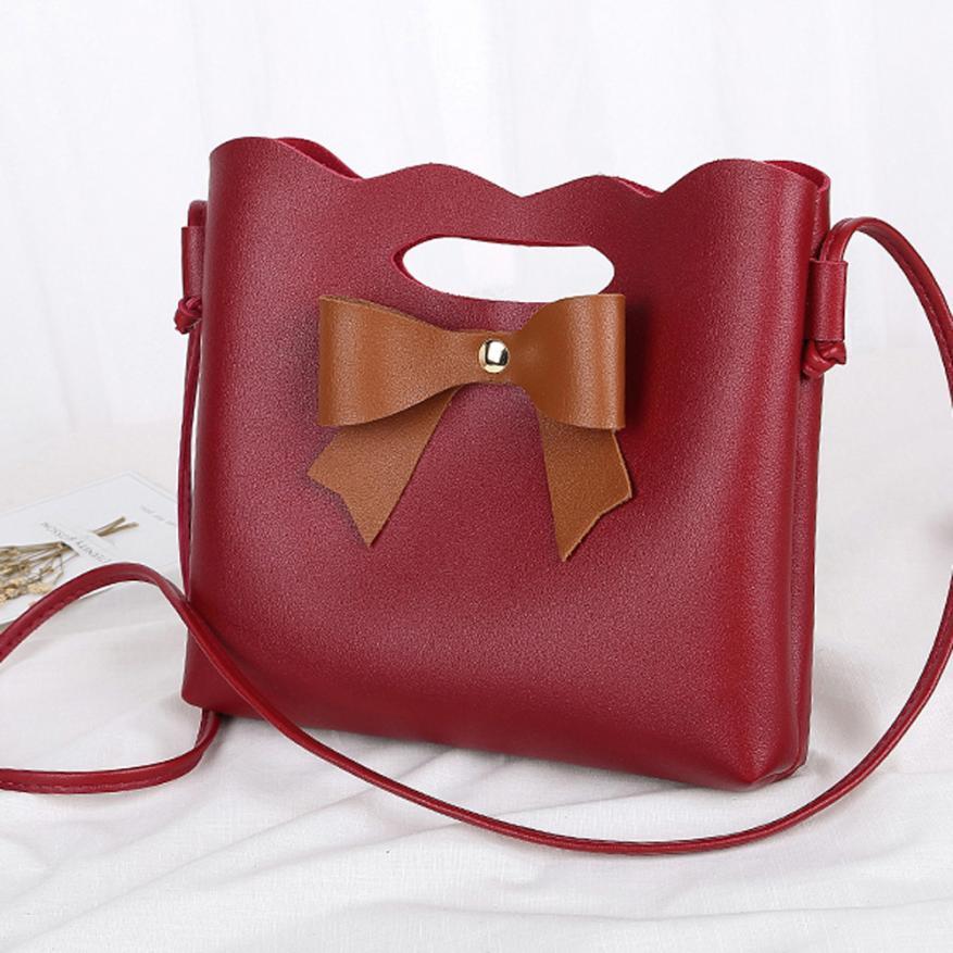 Модные Дамские туфли из pu искусственной кожи лук тиснением сумка Сумка Ms. однотонная одежда Открыть сумка-мешок # F