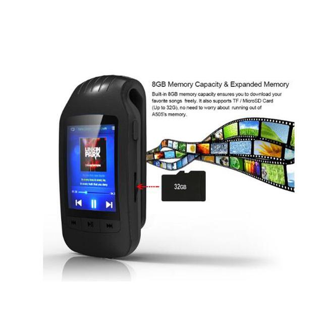 HOTT portable mini bluetooth mp3 player mp3 music player with sport clip Sport Pedometer FM Radio SD Card 1.8 Inch Screen