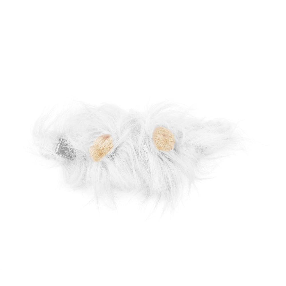 Pet Cat Dog Emulation Lion Hair Mane Ears Head Cap Autumn Winter Dress Up Costume Muffler Scarf #4