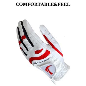 Jeden sztuk skórzane rękawiczki golfowe męskie lewa ręka miękkie oddychające rękawice z owczej skóry męskie sportowe Outdoor wygodne akcesoria D0630 tanie i dobre opinie Prawdziwej skóry Left Hand Soft Comfortable Breathable Platoon Is Wet Odor-Proof Men S Golf Glove Pure Sheepskin Soft Left Hand Anti-Skidding Gloves