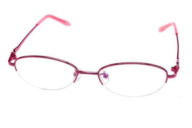 2016 nova SEMI-RIM CUSTOM MADE de rosa de óculos de titânio miopia e óculos de leitura + 1 + 1.5 + 2 + 2.5TO 8