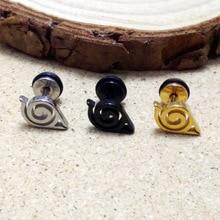 Naruto Konoha Stud Earrings