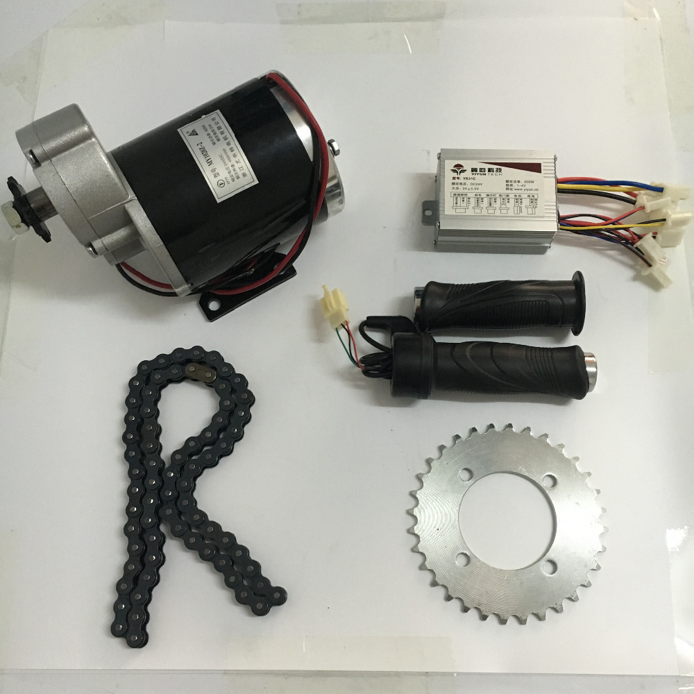 MY1020 24V 36V 48V DC 450W Brushed Motor With Controller And Throttle Electric Motorcycle Electric Bicycle Motor panlongic hand twist grip hall throttle 100a 5000w reversible pwm dc motor speed controller 12v 24v 36v 48v soft start brake