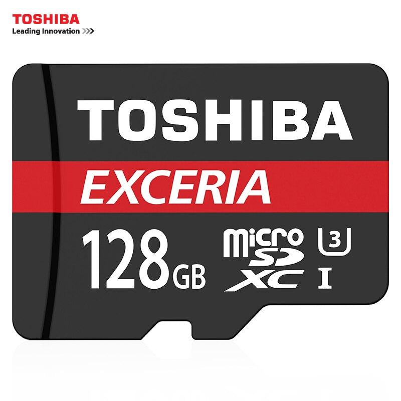 TOSHIBA U3 Memory Card 128GB 64GB SDXC Micro SD Card SDHC-I 32GB 16GB U1 C10 Official Verification Microsd for Smartphone/Tablet