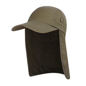 Image 5 - Outdoor UPF 50 Unisex Quick Dry Vissen Hoed Zonneklep Cap Hoed Bescherming Zon met Oor Nek Flap Cover voor wandelen nieuwe