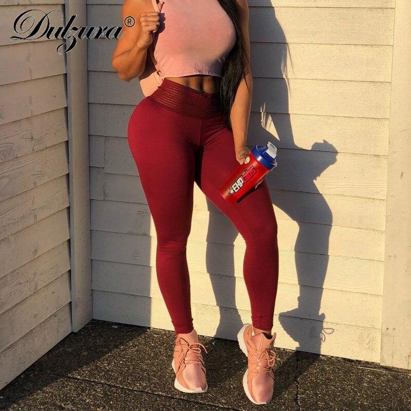 Dulzura 2018 autumn winter push up leggings women sexy sportswear leggins workout fitness high waist sporting