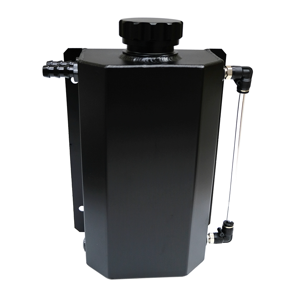 SPSLD Universal Oil Catch Tank Radiator Overflow Coolant Recovery Water Bottle Can Polished Reservoir Aluminum 2000ml