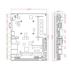 Image 5 - Fanless Intel J1900 Quad Core Processor ITX Motherboard Dual LAN Mainboard Mini PCIE WIFI mSATA SATA industrial motherboard