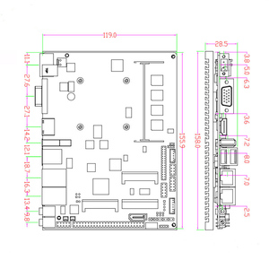 Image 5 - Fanless Intel J1900 Quad Core Prozessor ITX Motherboard Dual LAN Mainboard Mini PCIE WIFI mSATA SATA industrielle motherboard