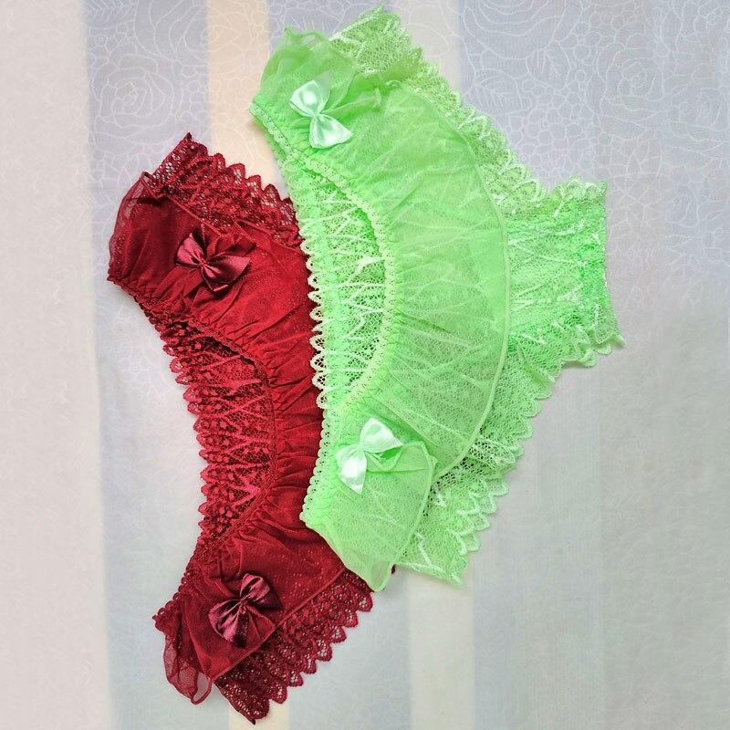 Кружевные трусики с оборками, трусики, сексуальное нижнее белье для гей-фетиш, коллекция нижнего белья, мужские трусы, прозрачные мужские трусы