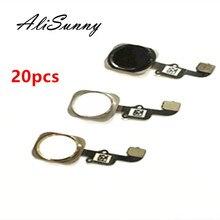 AliSunny 20 шт. кнопка домой гибкий кабель для iPhone 6 4,7 6G меню сенсор запасные части