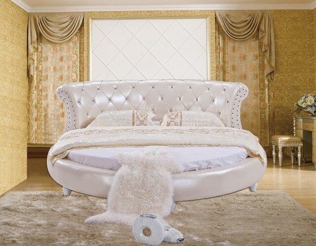 Das Moderne Design Der Weichen Leder Bett/gold/große Doppel Schlafzimmer  Möbel, Moderne