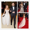 MGC25 Hot Sell Celebrity Dresses 2015 Met Gala Sofia Vergara Sweetheart Tulle Evening Gowns Party Dressesvestido de festa