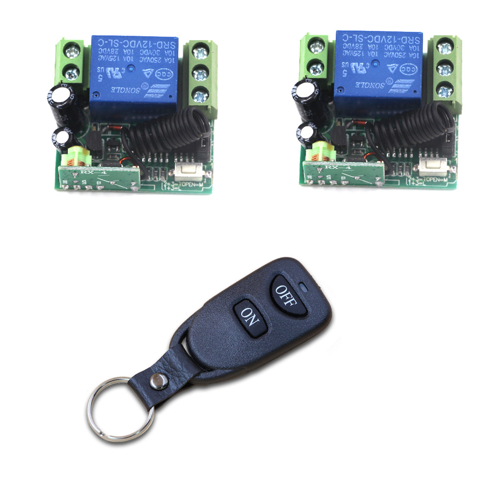 Smart Home Wireless Remote Light Switch Radio Control Switch 1CH 1 CH 12V 10A Relay Receiver Transmitter Fixed Code ac 220v 10a wireless remote control switch 1ch relay receiver module wall transmitter radio light switch fixed code 315 433mhz