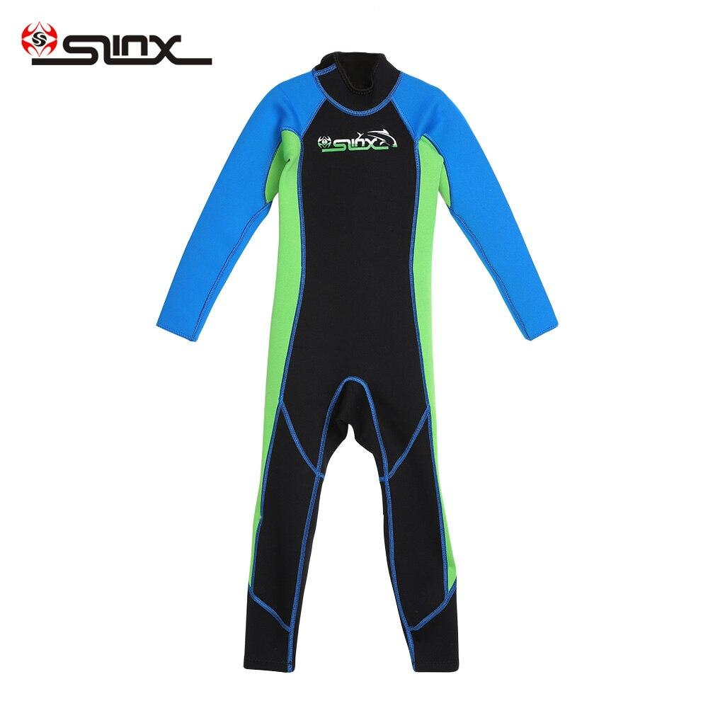 SLINX 1616 2mm enfants combinaisons de plongée à manches longues néoprène surf combinaison enfant une pièce hiver maillot de bain maillot de bain