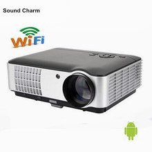 Native Full HD 1080P Led Digital Smart 3D Projector Perfect For Home Theater Projector Built in Android 4 4 LCD video beamer cheap 16 09 Manual Correction Sound charm Led Light 50 -200 at 1 5m-6 5m Digital Projector 1280x800dpi Other 40-20 inch 2800lumens
