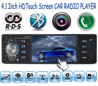 new 4.1'' inch touch screen FM Radio 1 Din bluetooth Auxin RDS bluetooth Car audio radio player MP5 Support Rear view Camera
