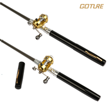 Goture 1M Ice Fishing Aluminum Alloy Pocket Pen Fishing Pole  with Baitcasting Reel Mini Pen Rod Fishing Kit